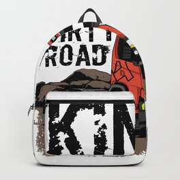 Dump Truck Dirty Road Backpack