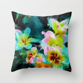 Floral Madness Throw Pillow