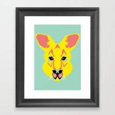 Skippy the Bush Kangaroo Framed Art Print