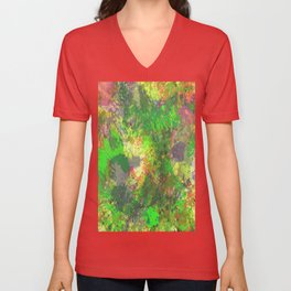 Jungle Of Colour - Multi Coloured Abstract Painting Unisex V-Neck