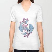 shining V-neck T-shirts featuring My shining by Gabbi