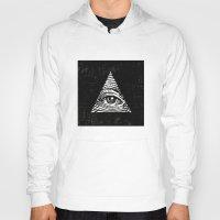 illuminati Hoodies featuring Illuminati by Jenny Joleen