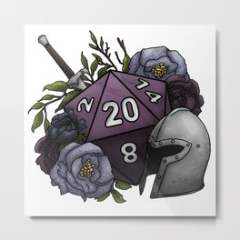 Fighter Class D20 - Tabletop Gaming Dice Metal Print