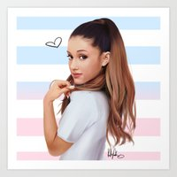 ariana grande Art Prints featuring Ariana  by kelsey cooke art