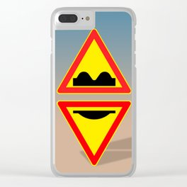 Bikini Season Warning Clear iPhone Case