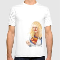 MOST ELIGIBLE KRYPTON White MEDIUM Mens Fitted Tee