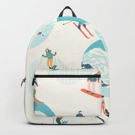 Ski pattern Backpack