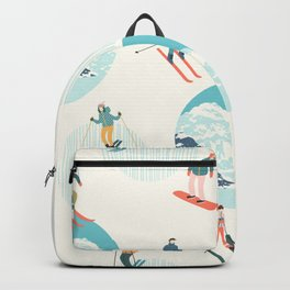 Ski pattern Backpack