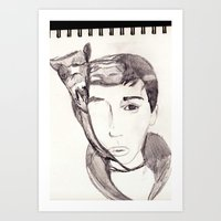 Lie a twister. Art Print