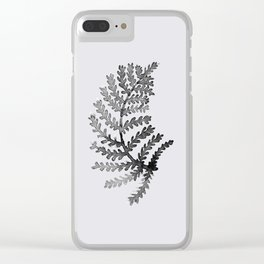 Baesic Mono Floral (Leaf 4) Clear iPhone Case