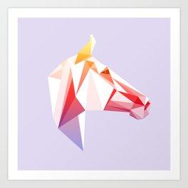 Geometrical Horse Art Print