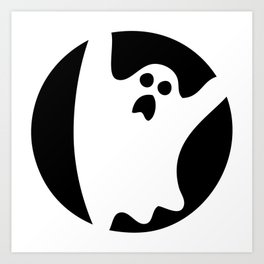 ghosty black Art Print