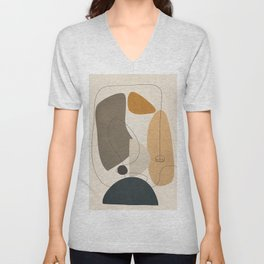 Abstract Minimal Shapes 26 Unisex V-Neck