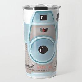 Vintage Camera - Blue Travel Mug