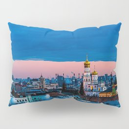 Moscow Sunset With An UFO Pillow Sham