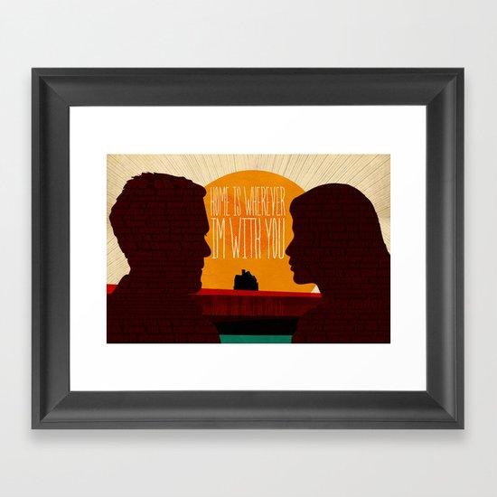 Oh, Home! Framed Art Print