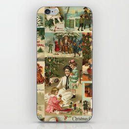 Vintage Victorian Christmas Collage iPhone Skin