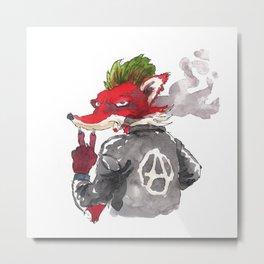 Punk fox Metal Print