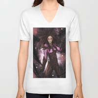 starcraft V-neck T-shirts featuring Kerrigan by Midnight Tardis