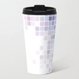 Pixels of Blue and Purple Travel Mug