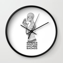 Kinder, Gentler, More Badass (KGMB) Wall Clock