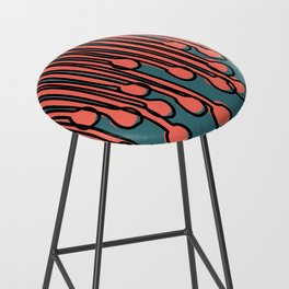 Running to you Living Coral Bar Stool