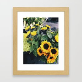 soleil (sunflowers) Framed Art Print