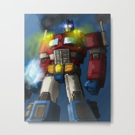 Optimus Prime, Hero of Cybertron Metal Print