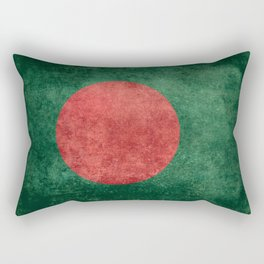 Flag of Bangladesh, Vintage Version Rectangular Pillow