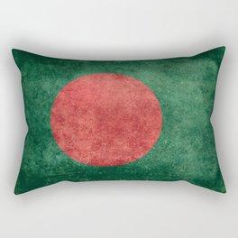 Flag of Bangladesh, Vintage Version Rectangular Pillow