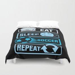Eat Sleep Soccer Repeat Duvet Cover