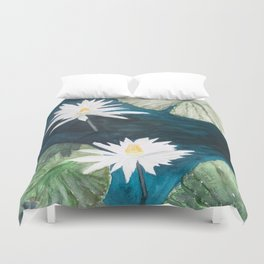 White Water Lilies Duvet Cover