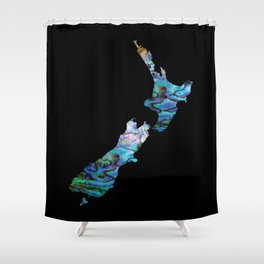 NEW ZEALAND MAP SIMPLE PAUA Shower Curtain