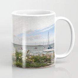 Flowery pier at the docks (Ireland) Coffee Mug