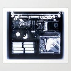X Ray of a Laptop Computer Electronics X-Ray Art Print