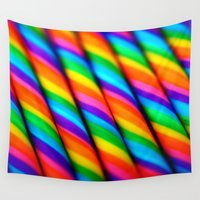 candy Wall Tapestries featuring Rainbow Candy : Candy Canes by WhimsyRomance&Fun