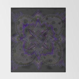 Divine Intention 5: Solar Purp Throw Blanket