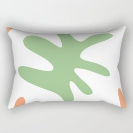 blue and orange leaves 3 Rectangular Pillow