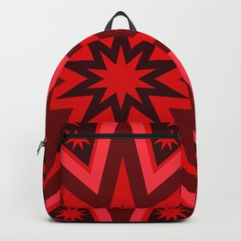 Fiery Red Flashing Fireworks Mandela Stars Backpack