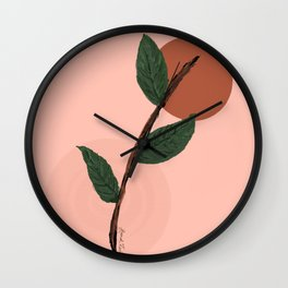 Little Plant Cutting Wall Clock