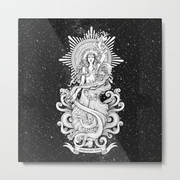 Aquarius (horoscope sign) Metal Print