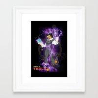 dbz Framed Art Prints featuring DBZ Tesla by Hushy