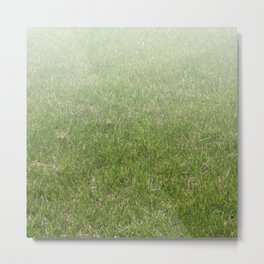 Light-to-Dark Green Ombre Gradient Grass Metal Print