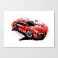 audi Canvas Prints featuring R8 V10 by an.artwrok