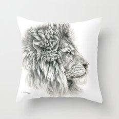 Lion - profile G044 Throw Pillow
