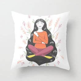 Peace and Pain (either/or/both) Throw Pillow
