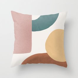 Abstract Earth 1.2 - Painted Shapes Throw Pillow