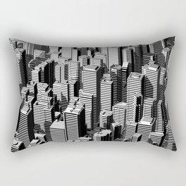 Urban Lines B&W Rectangular Pillow