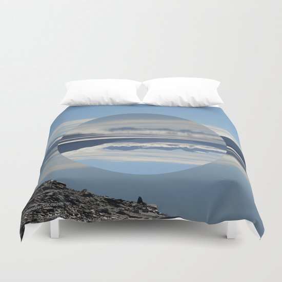 Turnagain Arm Flip Flop Duvet Cover