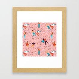 Sock hops Framed Art Print